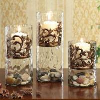 Best Glass Candle Golders for home decoration with floating resin holder inside wholesale