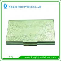 China Fancy rectangle  shape  metal business card holder on sale