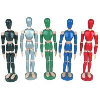 Best Life - Sized Wooden Drawing Figure Model , Colourful Flexible Poseable Art Mannequin wholesale