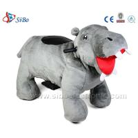 Best Big Plush Electric Animal Scooters, Giddy Up Animal Rides in Pony Toys for adult-Hippo wholesale