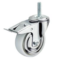 China 75mm Heavy Duty Nylon Caster Wheels Plate Rigid Mounting White Tread Color on sale