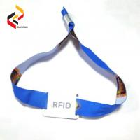 Buy cheap 13.56MHz MIFARE S50 Fabric RFID NFC Custom Wristband from wholesalers