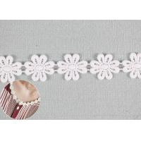 Buy cheap DTM Color Cotton Lace Edging Dyeing With Smooth Pattern / Embroidered Flower from wholesalers