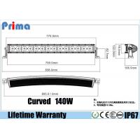 Best 140W 30 Inch Truck Led Light Bar ,Single Row 10W Cree  Combo Curved Light Bar wholesale