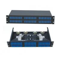 Buy cheap 48 ports Rack-Mount  19'' 2U Fiber Optic Patch Panel for SC/UPC adapter terminal box black cold-roll steel sheet product