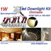 Buy cheap 9PCS 1W Mini LED Down Light + Driver Kit Dimmable Indoor Recessed showcase from wholesalers