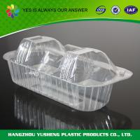 Best Plastic Clamshell Packaging For Food , Cupcake Clamshell Packaging wholesale