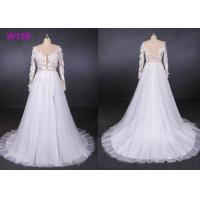 Best High Fork Small Tail 3d Flowers Tulle Custom Wedding Dress Bride Gowns wholesale