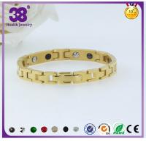 Best 2016 Fashion Gold Jewellery 316L Stainless Steel Magnetic Pendant Bracelet wholesale