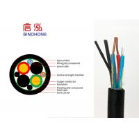 Best Outdoor Indoor 4 Core Multimode Fiber Optic Cable With Copper Wire Power Supply wholesale
