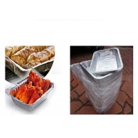 Best aluminum foil bbq tray disposable good quality used on grill food roast tray wholesale