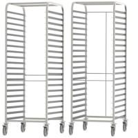China High Standard Stainless Steel Knocked-down Baking Tray Rack Trolley on sale