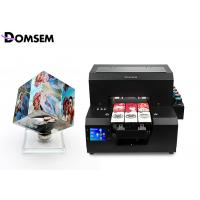 China Professional A4 Uv Flatbed Printer Automatic Control Panel For Business Card Plastic on sale
