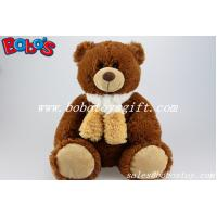 China Wholesale Chocolate Teddy Bears With Scarf From China Factory Supplier on sale