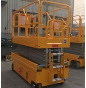 Easy Operation Scissor Lift Extension Platform With 90 Degree Steering Wheel
