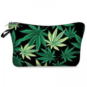 Best Marijuana Hemp Weed Leaf Cosmetic Makeup Smoke Weed Makeup Bag Storage Bag Pencil Bag Case Clutch Pouch Purse Zipper Han wholesale