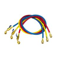 China 36 Inch Premium Refrigerant Charging Hose with Ball Valve in Red , Yellow , Blue on sale