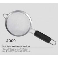 China Good helper for cooker Stainless steel large colander with long handle in kitchen tea and coffee strainer on sale
