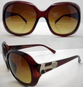 Best Brown Lens Plastic Frame Sunglasses , 400UV Protection CE wholesale