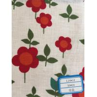 China Becautiful 100% linen printed fabric for women shrit on sale