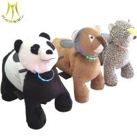 Best Hansel wholesale moving toy car animal ride plush electrical animal toy car wholesale
