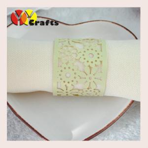 Best Wedding napkin rings laser cut handmade with intricate flower design wholesale