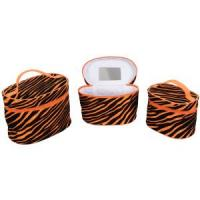 China Cylindrical Cosmetic Bags/ Lady Cosmetic Bag with Mirror on sale
