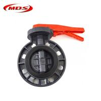 Best 2 inch pvc plastic spring loaded butterfly ball valve wholesale