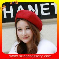 Buy cheap QF17070 Sun Accessory customized corduroy beret hat ,ladies beret hat from wholesalers