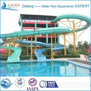 Best Cool Swimming Pool Water Slide Fiberglass Material wholesale