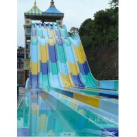 Best Aqua park equipment fiber glass water slide 12m height red wholesale