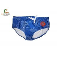 Best Custom Made Sexy Mens Bikini Swimwear Blue Swimming Briefs Water Repellent wholesale