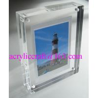 Best Transparent Perspex / PMMA / Acrylic Photo Frame With Magnet 5X7 wholesale