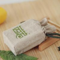 China Square base Personalize LOGO cotton linen bag drawstring pouch custom travel grains access on sale