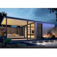 China Luxury Prefabricated Garden Office Light Steel Frame With Double Glass Windows on sale