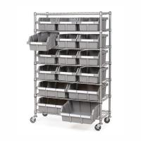 China Restaurant Supplies Strorage Mobile Wire Utility Cart 7 Layer Adjustable Every Shelf Height on sale