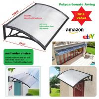 China Easy to DIY Polycarbonate PC Awning for door window/Cheap price cover/ house canopy UV pro on sale