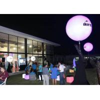 China Night Inflatable Advertising Products , Purple Inflatable LED Balloon Light For Display on sale
