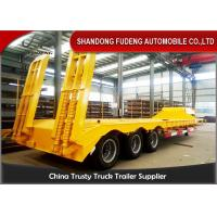 Best Three Axles Drop Bed Low Bed Semi Trailer For Large Contruction Machinery wholesale