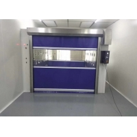 Best Automatic Control Fast Rolling Up Door Air Shower Booth Soft Curtain Gate wholesale
