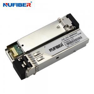 Best 550m 850nm 1.25G SFP Transceiver Dual Fiber Multimode Hot Pluggable wholesale