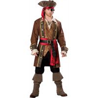 Best 2016 costumes wholesale high quality fancy dress carnival sexy costumes for halloween party Captain Skullduggery wholesale