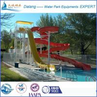 Best Long Swimming Pool Water Slide With Curved Slide wholesale