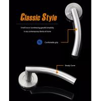 Cheap Glossy Polished Stainless Steel Internal Door Handles With Same Color Screws for sale