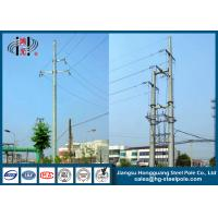 China 220KV Steel Tubular Electrical Power Pole , High Voltage Poles on sale
