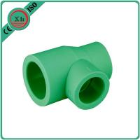 China Green / White Ppr Reducing Tee Unequal Tee Plumbing Piping 20 - 110 MM Size on sale