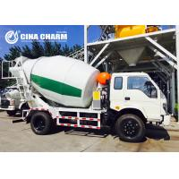 Best Fast Climbing 4m3 Concrete Mixer Truck , Concrete Mixing Transport Trucks wholesale