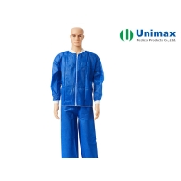 China OEM 15gram Non Woven Lab Coat With Zipper on sale