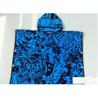 China Childrens Poncho Beach Towels , Poncho Swimming Towels For Sports on sale