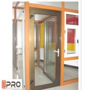 Cheap Fancy Double Glazing Aluminum Hinges Swing Casement Door Custom Size magnetic for sale